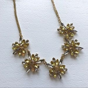 ModCloth Statement Necklace - Gold Flowers NWT